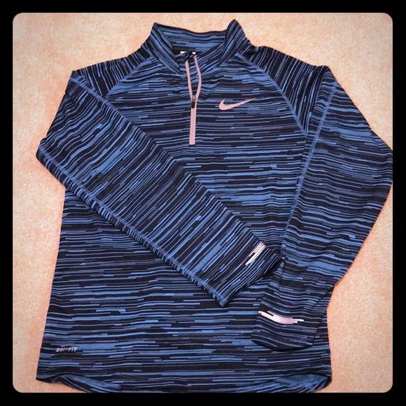 6cfc27521c70 Nike boys running Dri-fit half zip pullover. M 5a3886b33800c599de00d1b5